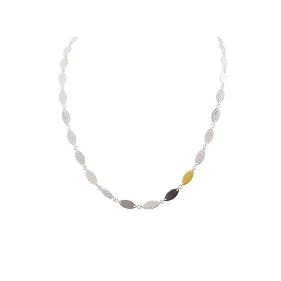 Thin Tri-Color Willow Flake Necklace-Gurhan-Duncan & Boyd Jewelers