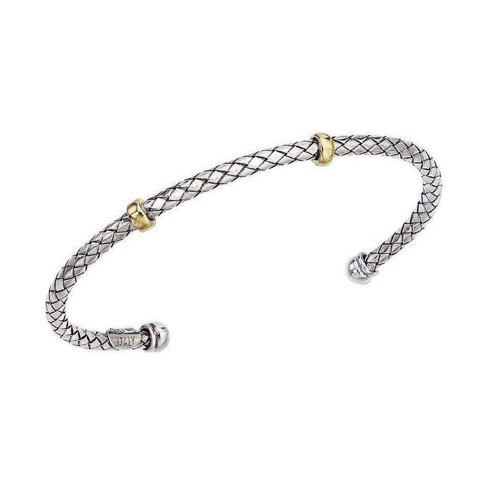 Thin Two Toned Bracelet-Alisa-Duncan & Boyd Jewelers