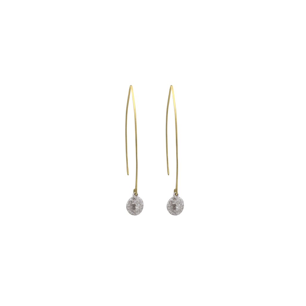 Thread Through Circle Cross Earrings-Duncan & Boyd Jewelers-Duncan & Boyd Jewelers