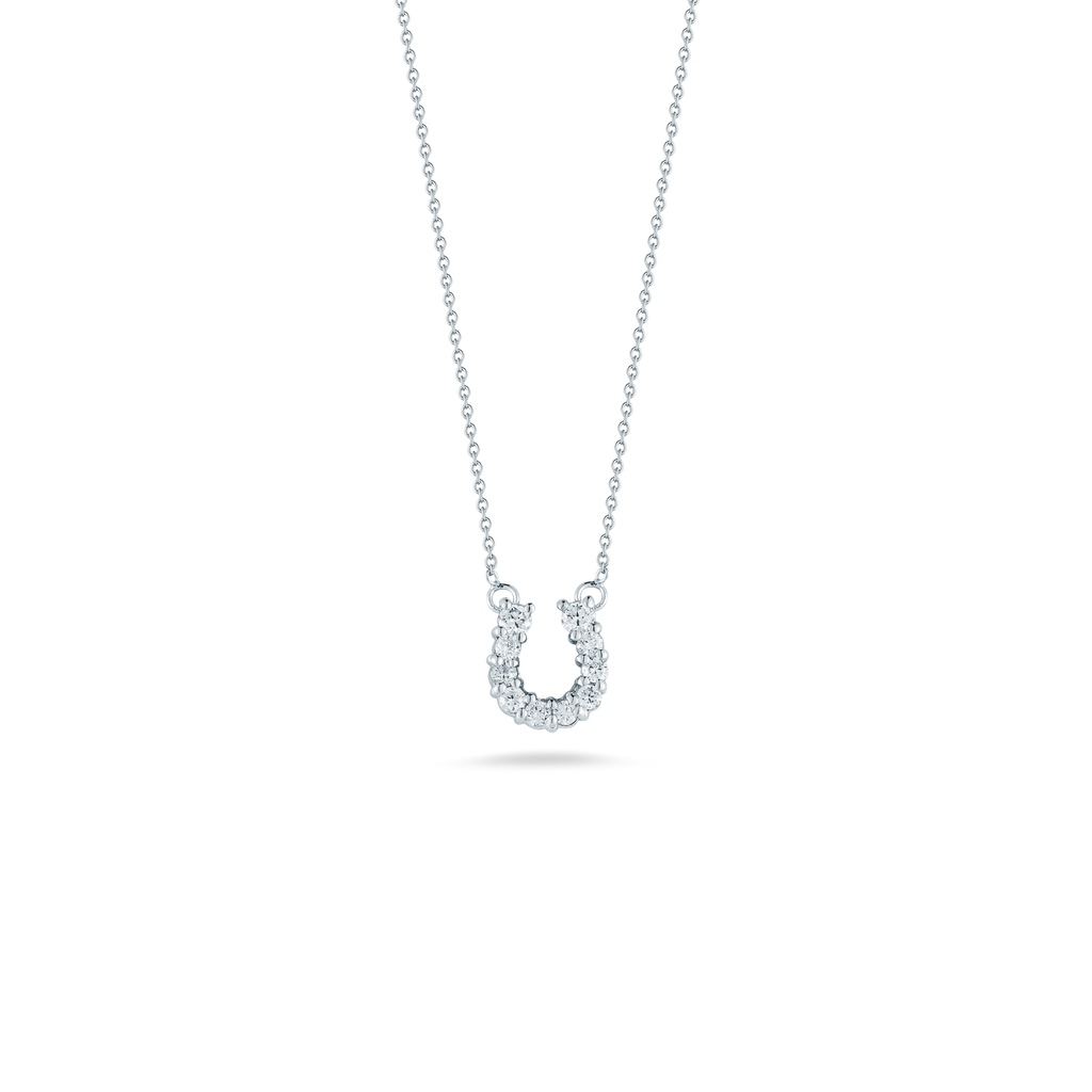 Tiny Treasure Horseshoe Necklace-Roberto Coin-Duncan & Boyd Jewelers