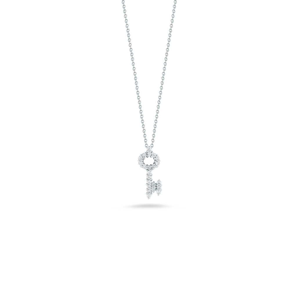 Tiny Treasure Key Necklace-Roberto Coin-Duncan & Boyd Jewelers