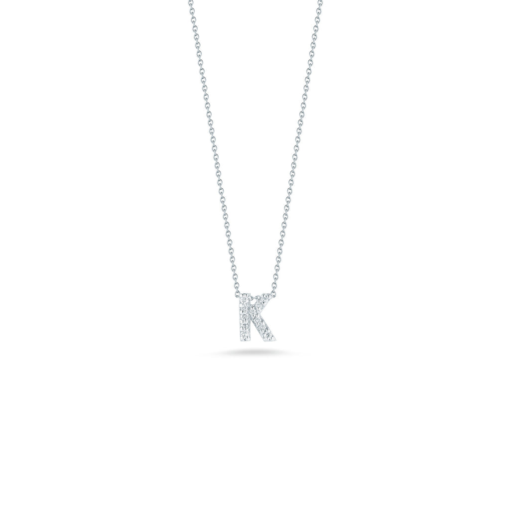 "Tiny Treasures ""K"" Pendant-Roberto Coin-Duncan & Boyd Jewelers"