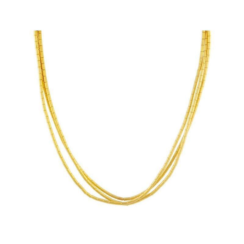 Triple Strand Gold Necklace-Gurhan-Duncan & Boyd Jewelers