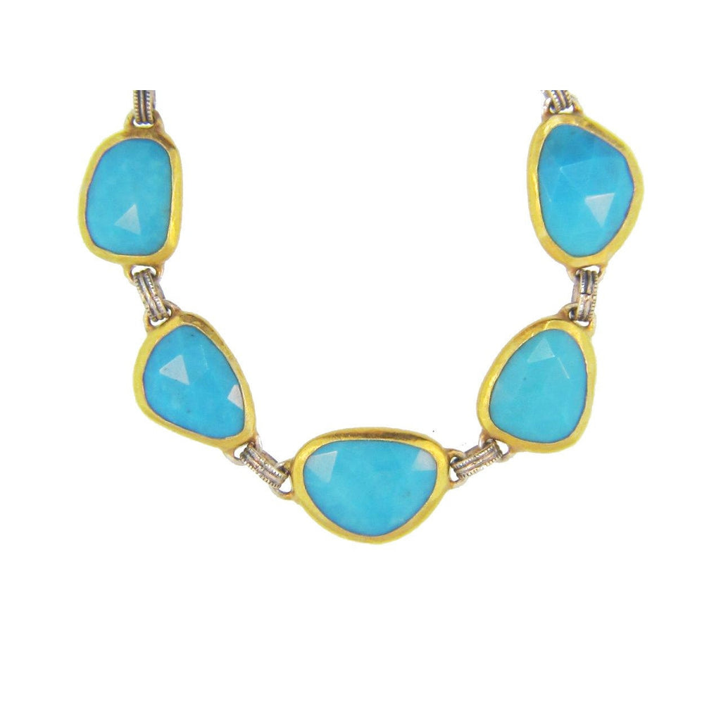 Turquoise Amorphous Necklace-Gurhan-Duncan & Boyd Jewelers