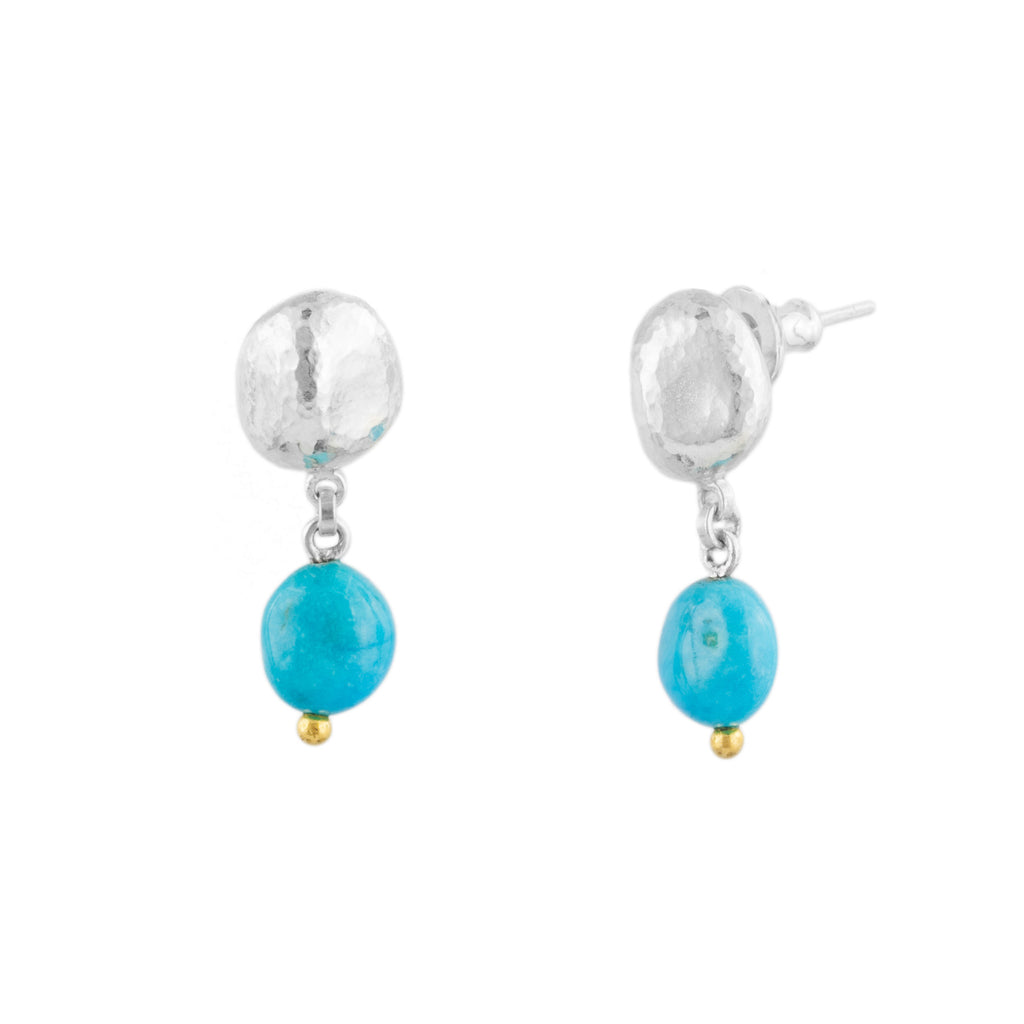 Turquoise Double Drop Earring-Gurhan-Duncan & Boyd Jewelers
