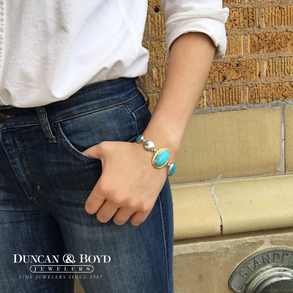 Turquoise Galapagos Bracelet-Gurhan-Duncan & Boyd Jewelers