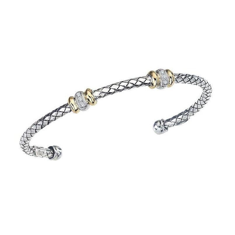 Two Stations Weave Bracelet-Alisa-Duncan & Boyd Jewelers
