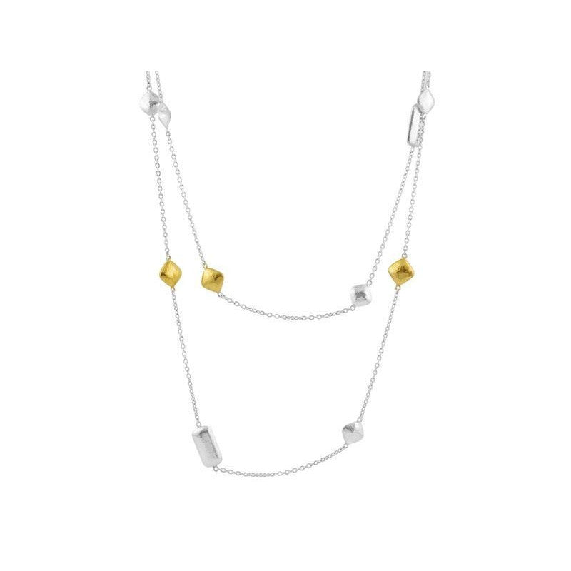 Two-tone Station Necklace-Gurhan-Duncan & Boyd Jewelers