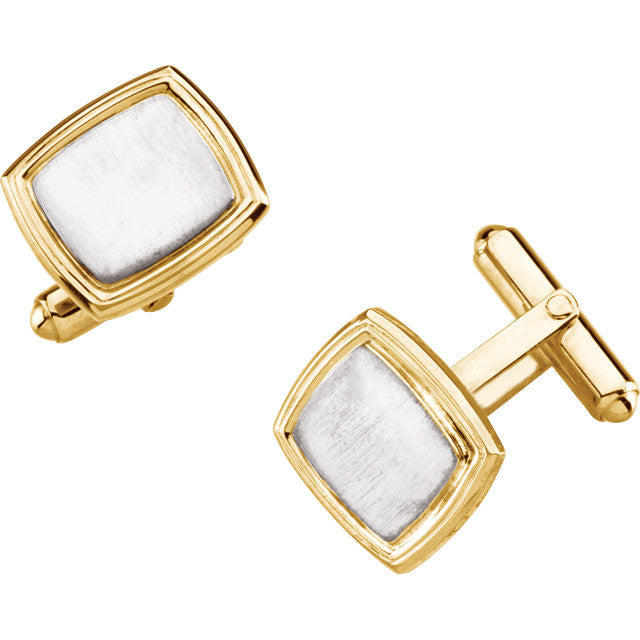Two-tones Cuff Links-Duncan & Boyd Jewelers-Duncan & Boyd Jewelers