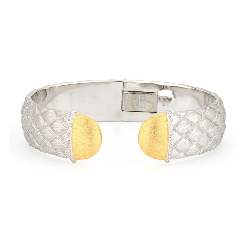 Virginia Two Toned Quilted Cuff-Jude Frances-Duncan & Boyd Jewelers