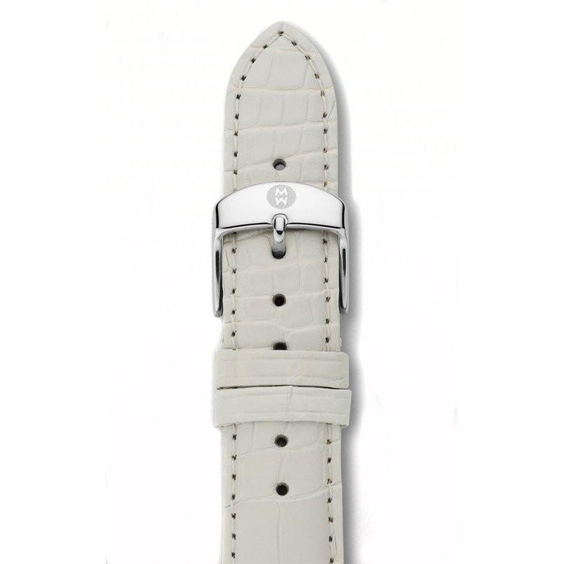 White Alligator Watch Strap-Michele-Duncan & Boyd Jewelers