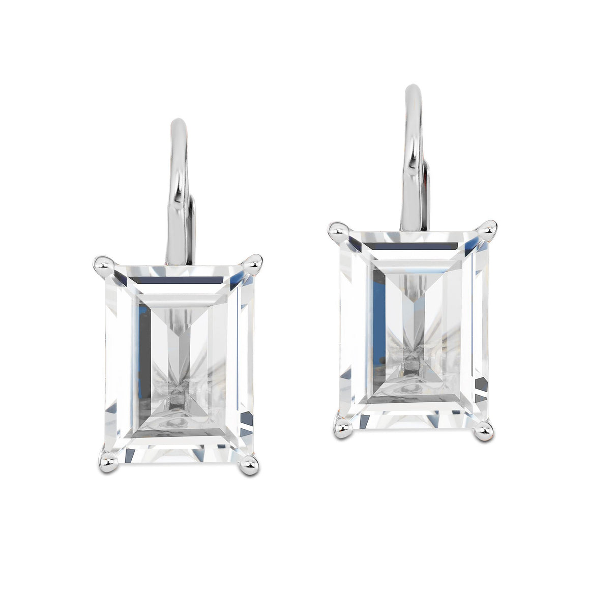 White Topaz Dangle Earrings-Jane Taylor-Duncan & Boyd Jewelers