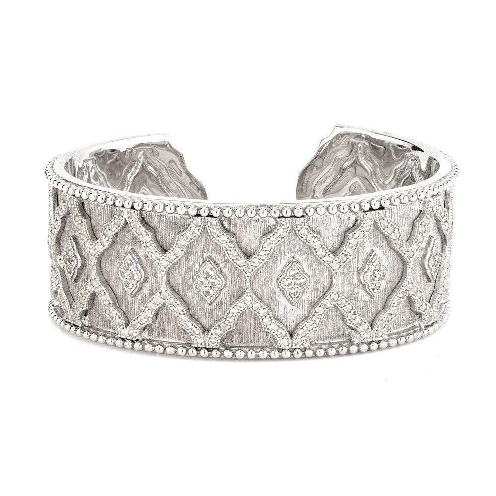 Wide Moroccan Beaded Pave Cuff-Jude Frances-Duncan & Boyd Jewelers