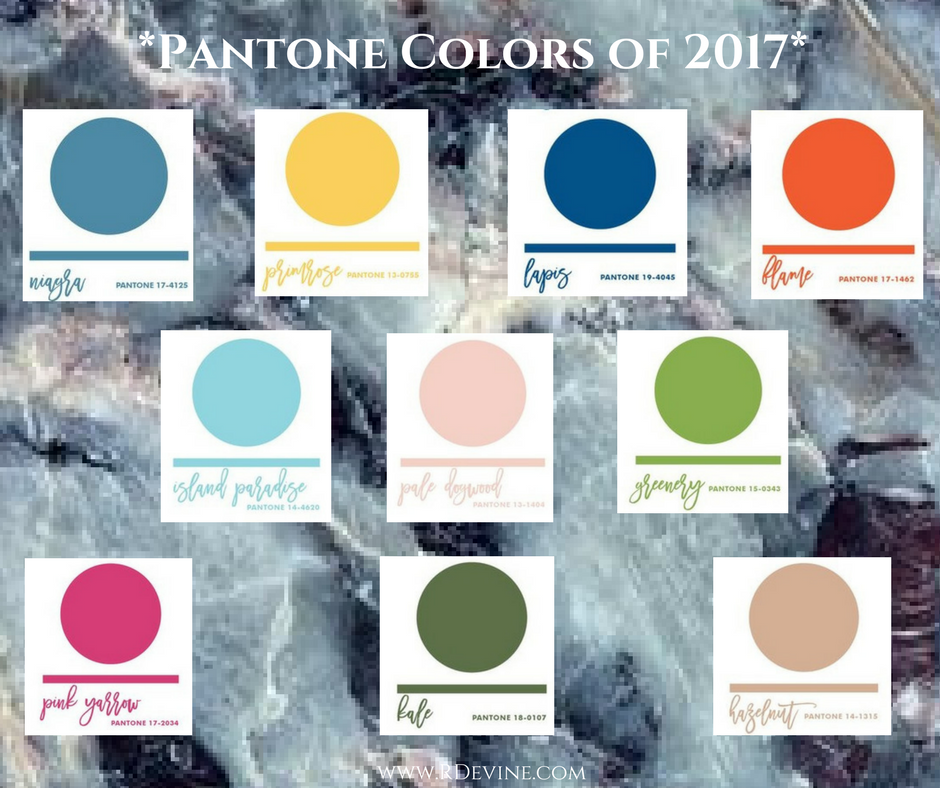 Pantone Colors Spring & Summer 2017
