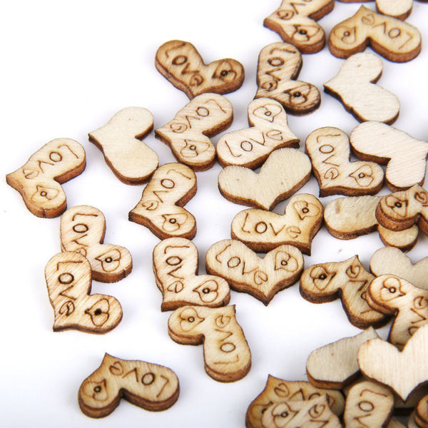 "Wooden Heart ""Love"" Confetti"