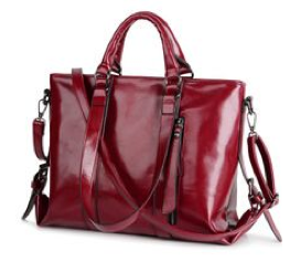 Large Genuine Leather Tote with Shoulder Strap - RDevine Fashion (Wedding & Bridal)