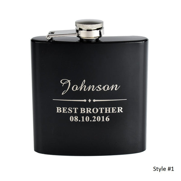 Personalized Engraved Stainless Steel Flask - RDevine Fashion (Wedding & Bridal)