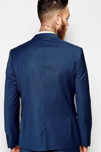 (MTM) Navy Blue Slim Fit Suit - RDevine Fashion (Wedding & Bridal)