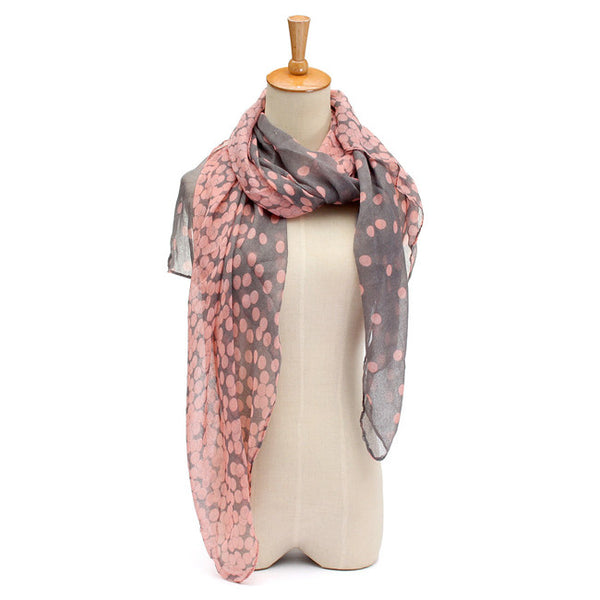 RDevine Casual- Gray Pashmina with Pink Spots