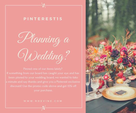 Pinterest Promotion - RDevine Fashion (Wedding & Bridal)