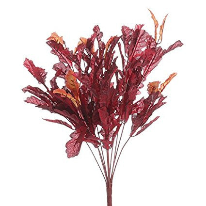 Burgundy & Orange Oak Leaf Bushel