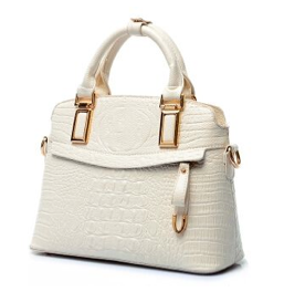 Soft Shell Crocodile Faux Leather Handbag