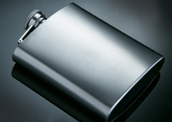 Stainless Steel Flask and Shot Glass Set