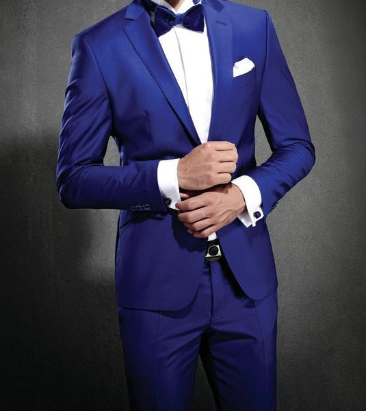 (MTM) Royal Blue Notch Lapel Tuxedo - RDevine Fashion (Wedding & Bridal)