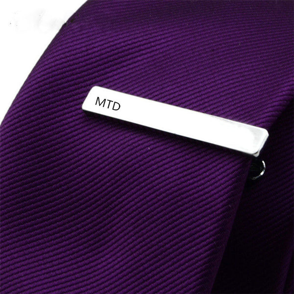 Custom Monogrammed Tie Clip - RDevine Fashion (Wedding & Bridal)
