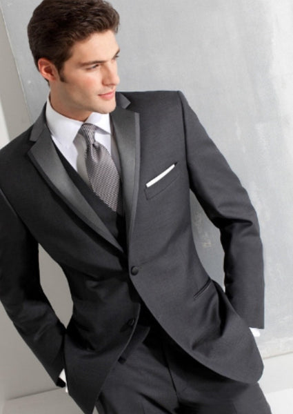 (MTM) Slim Fit Gray Tuxedo - RDevine Fashion (Wedding & Bridal)