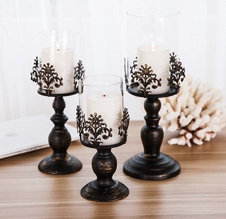 Decorated Iron Metal Candle Stands - RDevine Fashion (Wedding & Bridal)