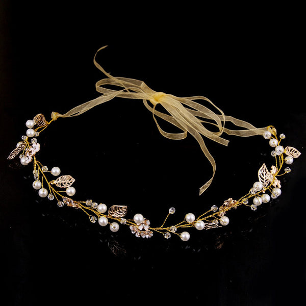 Pearl Leaf Headband - RDevine Fashion (Wedding & Bridal)