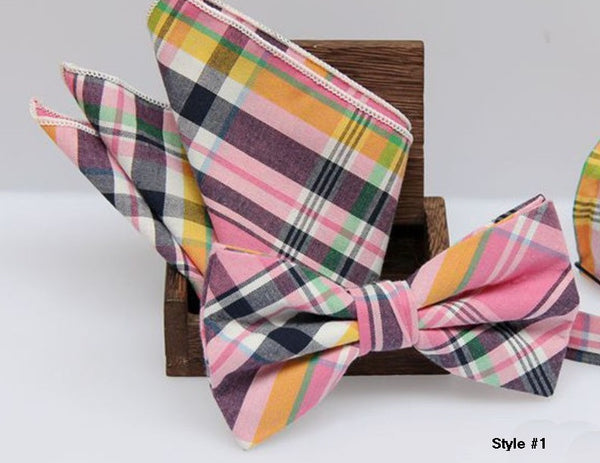 Pocket Square & Bow Tie Set - RDevine Fashion (Wedding & Bridal)