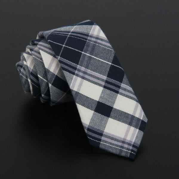 Plaid Linen Neck Ties