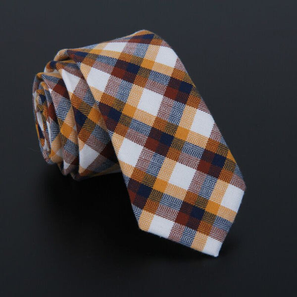 RDevine Plaid Linen Neck Ties