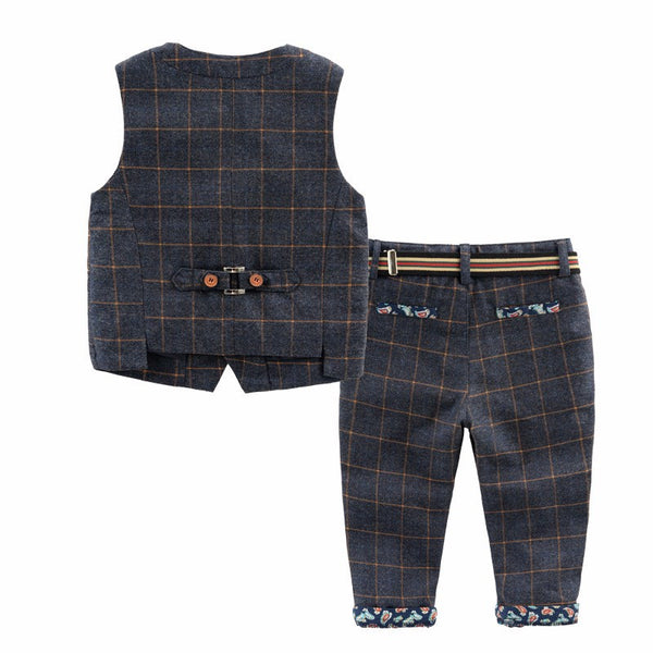 Ring Bearer- Two Piece Plaid Set
