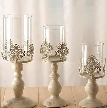Decorated Iron Metal Candle Stands