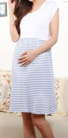 RD Glow- Striped A Line Nursing and Maternity Dress
