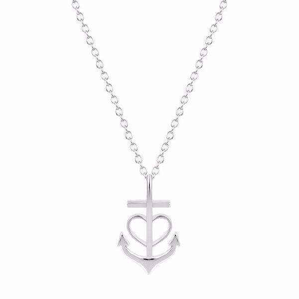 Bridesmaid Gift- Anchor & Heart Pendant Necklace - RDevine Fashion (Wedding & Bridal)
