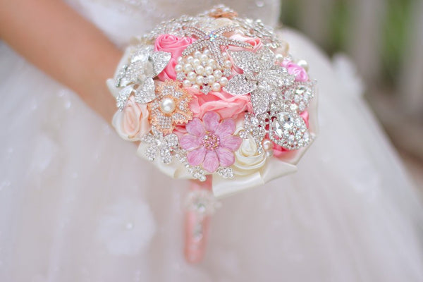 Mini Pink and Coral Bouquet - RDevine Fashion (Wedding & Bridal)