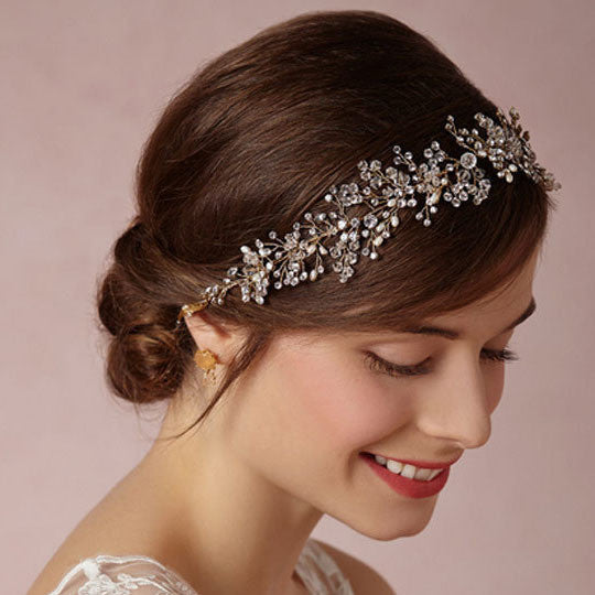 Crystal Twigleaf Water Drop Headband - RDevine Fashion (Wedding & Bridal)