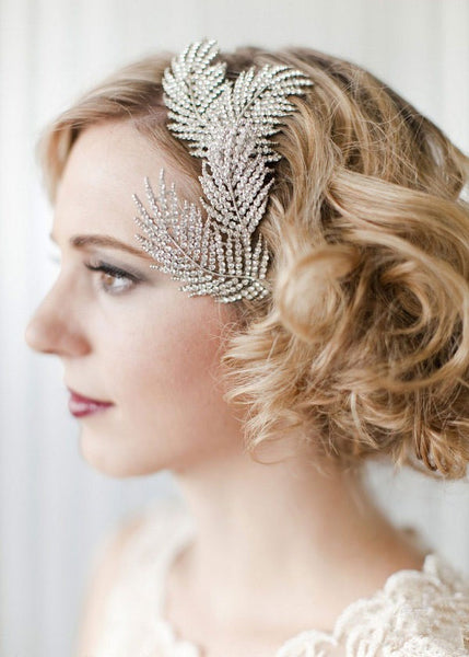 Rhinestone Feather Hair Pin