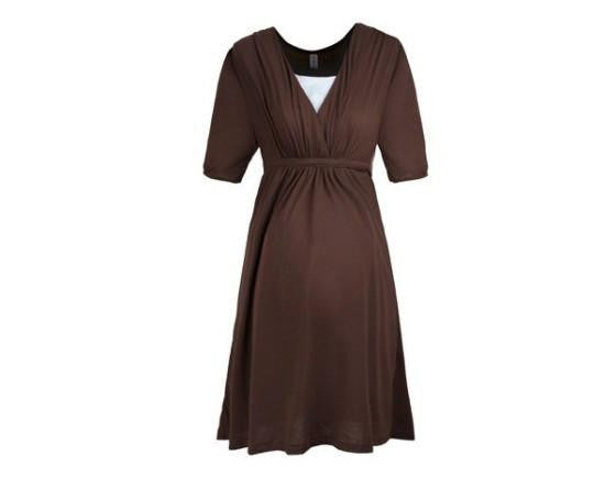 RD Glow- Quarter Sleeve Cotton Blend Dress