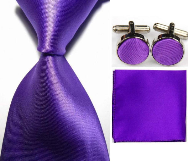 Neck Tie-Handkerchief-Cuff Links Set - RDevine Fashion (Wedding & Bridal)