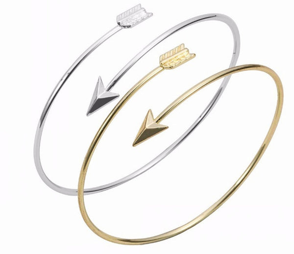 Bridesmaid Gift- Silver/Gold Arrow Bracelet - RDevine Fashion (Wedding & Bridal)