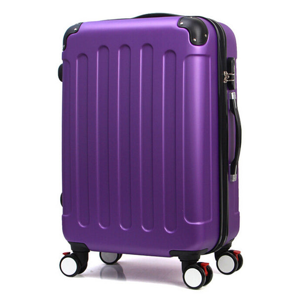 24'' 360 Wheel Solid Travel Luggage - RDevine Fashion (Wedding & Bridal)