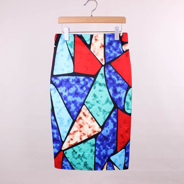 RDevine Casual- Geometric Pencil Skirt