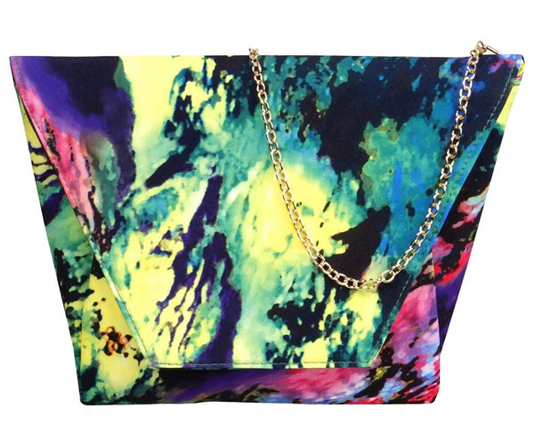 Over-Sized Paint Splash Envelope Clutch - RDevine Fashion (Wedding & Bridal)