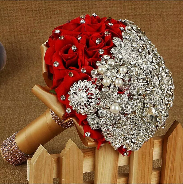 Rose & Crystal Embellished Bouquet