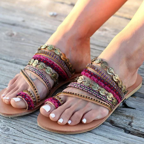 """Gypsy Love"" Leather Sandal"